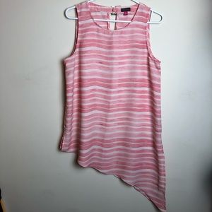 Vince Camuto Size M Striped Blouse Tank Top